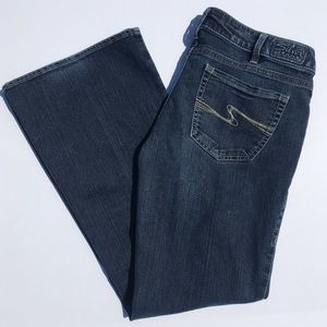 Silver Aiko Bootcut Jeans Size 33